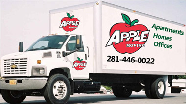 Apple Moving Delivery Truck